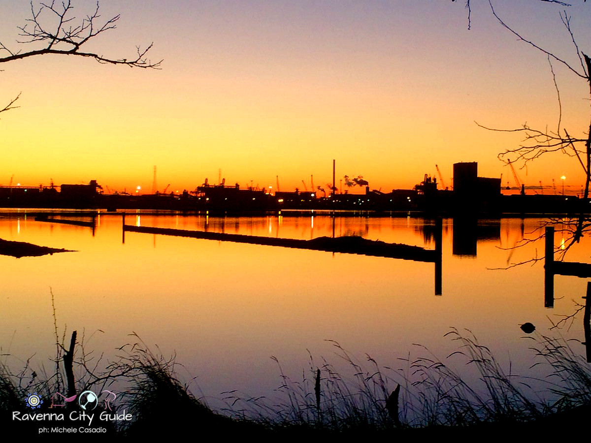 tramonto in pialassa